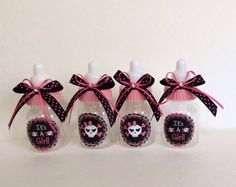 Blue instead and its a boy  Rock skull baby shower favors Skull girl baby by Marshmallowfavors