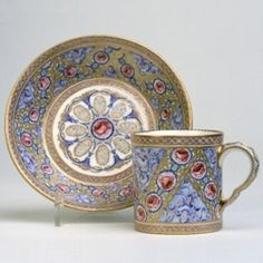 A Sèvres Porcelain Cup & Saucer, 1767