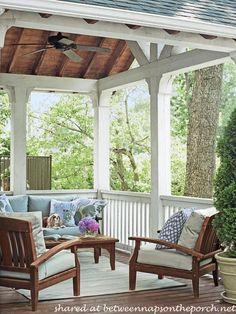 Between Naps on the Porch | Beautiful Porch and Deck Additions: Amazing Transformation | http://betweennapsontheporch.net