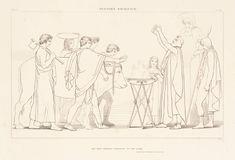 """Libro III ( 530-533) """" ma de' cavalli il domator, l'antico Nestore, il rito comonciò: le mani s'asterse, sparse il salat'orzo, e a Palla pregava molto.."""""""