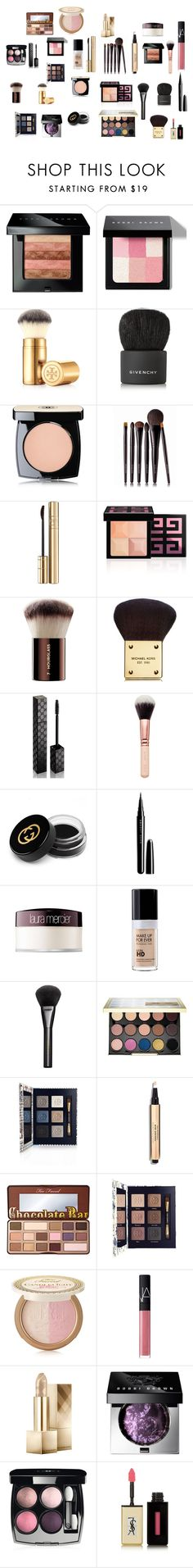 """""""Makeup Wishlist #2"""" by inspiration-center ❤ liked on Polyvore featuring beauty, Bobbi Brown Cosmetics, Tory Burch, Givenchy, Chanel, Laura Mercier, Dolce&Gabbana, Hourglass Cosmetics, Michael Kors and Gucci"""