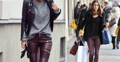 Burgundy Leather Trousers | sheerluxe.com