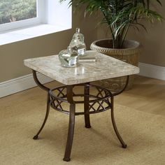 Have to have it. Brookside Fossil Stone End Table - $239.98 @hayneedle