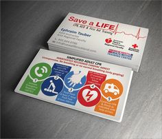 Unique useful Business Card design for CPR instructor