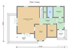 Предлагаем вашему вниманию проект каркасного двухэтажного дома, размером 13,1 х 9,6м. Общая площадь 225,7 м2. Проект № 50-К. ...