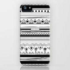 Tribal Pattern Black iPhone Case