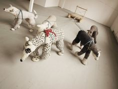 These sweater wolves by Hannah Haworth are amazing!