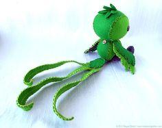 Quetzal Plush Art Doll, Tototl (Made to Order). $145,00, via Etsy.