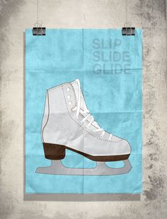 Poster Illustration by Red Instead – Ice Skate Roller Derby, Roller Skating, Ice Skating, Figure Skating Quotes, On Thin Ice, Pop Up Banner, Ice Rink, Poster Designs, My Scrapbook