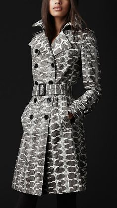 Burberry always gets it right!  - LONG SNAKESKIN TRENCH COAT