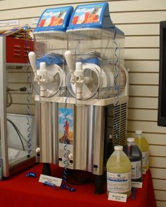 Slush Machine from Rent-E-Quip. Can be used with or without alcohol.