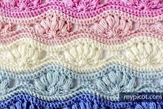 Crochet Ripple Puff Stitch Pattern: Diagram + step by step instructions