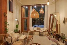Cafe Shop Design, Coffee Shop Interior Design, Bakery Interior, Mid-century Interior, Room Inspiration, Interior Inspiration, Cafe Bistro, Restaurant Design, House