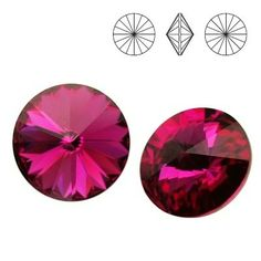 1122 Rivoli SS39 Fuchsia F 2pcs  Dimensions: diameter 8,16-8,41 mm Colour: Fuchsia F 1 package = 2 pieces