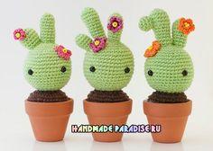 Mesmerizing Crochet an Amigurumi Rabbit Ideas. Lovely Crochet an Amigurumi Rabbit Ideas. Crochet Diy, Cactus En Crochet, Crochet Kawaii, Crochet Amigurumi, Amigurumi Patterns, Crochet Dolls, Crochet Flowers, Crochet Patterns, Amigurumi Doll