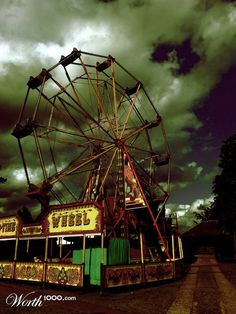 Beautiful picture! Abandoned amusement park
