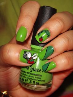 I wish I could do this! - Shel Silverstein inspired nails?!?! YEEES.