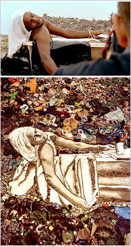 """Vic Muniz. One of the pictures from the documentary """"Waste Land"""" a must see for anyone who envisions a better world."""