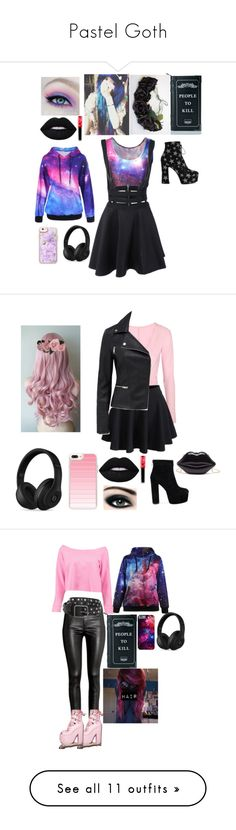 """Pastel Goth"" by annacombs4 ❤ liked on Polyvore featuring Lime Crime, Casetify, Beats by Dr. Dre, Yves Saint Laurent, Killstar, Ballet Beautiful, WithChic, Max Factor, Boohoo and H&M"