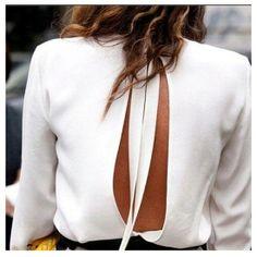 Camisa con espalda abierta para invitada #bodas
