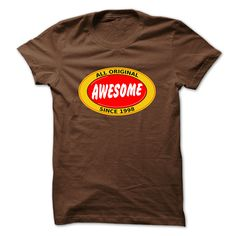 All Original Awesome Since 1998 T-Shirts, Hoodies. Check Price Now ==►…