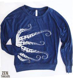 want this octopus sweatshirt!