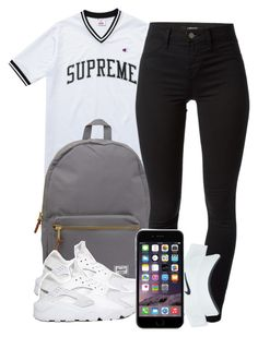 6:24:15 by codeineweeknds on Polyvore featuring polyvore, fashion, style, J Brand, Champion, NIKE, Nike Golf and Herschel Supply Co.