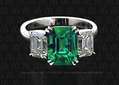 Emerald cut emerald and diamond ring by Leon Mege For more info go to: http://artofplatinum.com/vault/emerald-engagement-ring