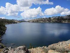 Virginia Lake in the Eastern Sierra Nevada in California