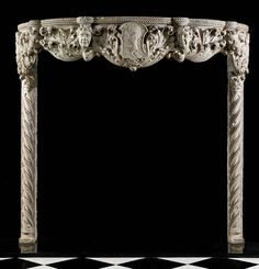 Rare Antique 15th Century Venetian Gothic Fireplace Mantel