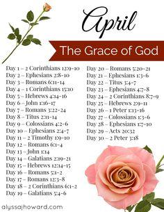 April Bible Reading Plan   alyssajhoward.com