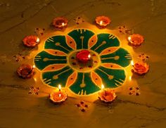 Deepavali (Diwali) Rangoli #wedding #indian
