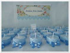 Baby Shower Decorations For Boys, Boy Baby Shower Themes, Baby Decor, Baby Boy Shower, Baby Shower Gifts, Boy Baptism Centerpieces, Baptism Candle, Baby Shower Souvenirs, Christening Favors