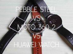 cool Pebble Steel vs Motorola Moto 360 2nd vs Huawei Watch  Check more at http://gadgetsnetworks.com/pebble-steel-vs-motorola-moto-360-2nd-vs-huawei-watch-ita/