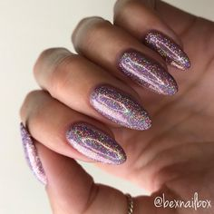 "47 Likes, 10 Comments - Rebecca (@bexnailbox) on Instagram: ""@magpie_beauty supercharged holographic glitter 'Faith' is just unreal  Can't stop looking at…"""