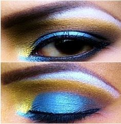 I love this makeup look even though I couldn't pull it off. :P #tropicalmakeup #love