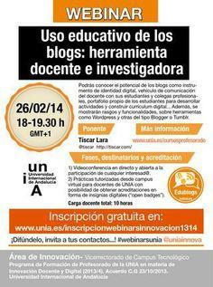 WebinarUNIA sobre uso educativo de los blogs
