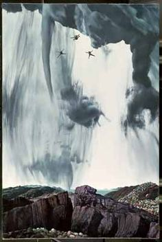 """Parachutisten (Parachutists)"", 1971 / Carel Willink (1900-1983)"