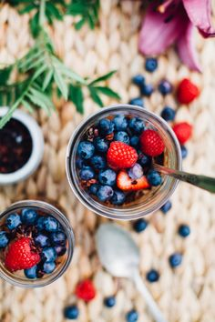 Raw Chocolate Mousse and Berry Parfaits (Vegan, Gluten Free)