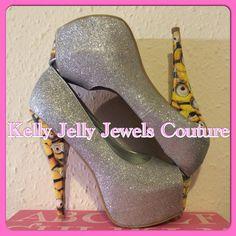 Minion Glitter High Heels Size UK 3-8 US 5-10 au 5-10 eu 36-41- Wedding unique by KellyJellyJewelsKJJC on Etsy https://www.etsy.com/listing/228728091/minion-glitter-high-heels-size-uk-3-8-us