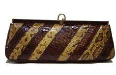 Vintage SUSAN GAIL Snakeskin Clutch by Vintageables on Etsy, $195.00. js