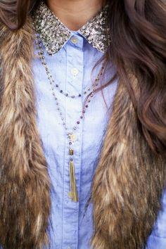 Cute idea... love the sequin collar