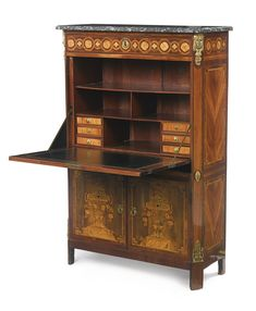 A Louis XVI ormolu-mounted kingwood, tulipwood and fruitwood marquetry sécretaire à abattant circa 1770, stamped J.P. Letellier, JME Jacques-Pierre Letellier, maître in 1767