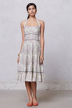 BIN $79.99 New Sz 6 Anthropologie Swirled Paisley Halter Dress by Girls from Savoy  #GirlsfromSavoyAnthropologie #Sundress