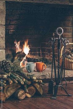 warmth from coffee and a fireplace - Ana Rosa