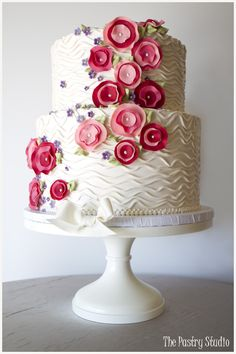 French Country Chic Buttercream Sugar-Paste Fabric Florals by The Pastry Studio:Daytona Beach,Fl
