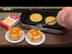 DIY Miniature Pancakes (Fake food) ミニチュアホットケーキ作り - YouTube