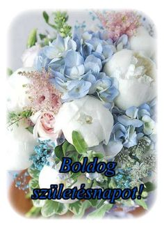 Blue and White Flower Arrangement. White peonies and Blue hydrangeas go perfectly together in this classic floral design. Would be great for a baby shower, christening, or sip n see. Traditional Baby Boy Shower Inspiration with Old Southern Charm Amazing Flowers, Fresh Flowers, Spring Flowers, Beautiful Flowers, Beautiful Bouquets, Orchid Flowers, Pastel Flowers, Silk Flowers, Pastel Colors