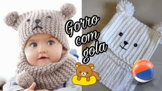 Gorro com gola bichinho Best Picture For Crochet headband For Your Taste You are looking for something, and it is going to tell you exactly. Crochet Baby Clothes, Crochet Girls, Crochet Baby Hats, Crochet Twist, Knit Crochet, Diy Crafts Crochet, Crochet Projects, Baby Hats Knitting, Knitted Hats