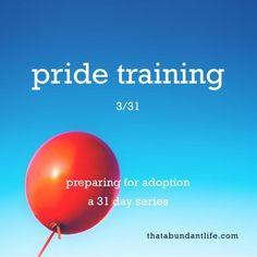 pride training #write31days — that abundant life